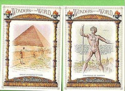 Lot of 7 2013 Allen & Ginter Cabinet Ancient Wonders of the World Set