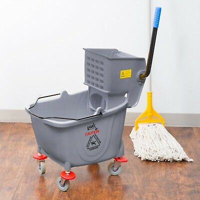 Commercial 36 Qt. Mop Bucket Wringer Combo Cleaning Bathroom Lavex Janitorial