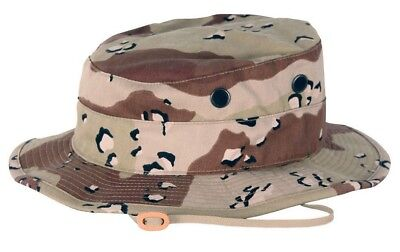 Nwt Tru-Spec Hot Weather Type Ii 6 Color Chocolate Chip Camo Boonie Hat Cap