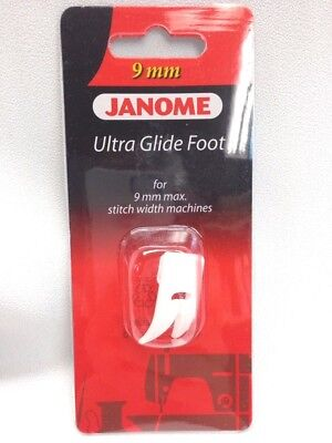 "Janome Ultra Glide ""u"" Non Stick Teflon Foot For 9Mm Stitch Width Machines"