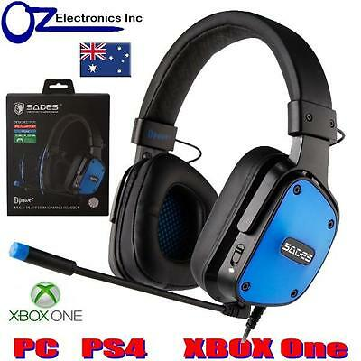 SADES DPOWER 3.5mm XBOX One PS4 PC Gaming Headset Mic Chat NEW Noise Reduction