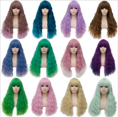 Long Curly Hair Bangs Gradient Can Not Be Dyed Daily Wig 70cm /Clearance Sale