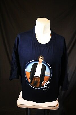 NEW Friends of Josh Groban Blue 3XL t-shirt American singer Fan Club Tee Actor