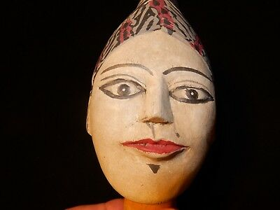 Antique Vintage Old Indonesian Thai Indian Java Puppet Marionette Head