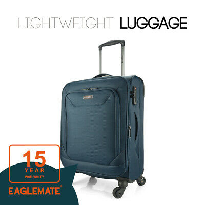 """Eaglemate 20"""" Luggage Suitcase Trolley Set Travel Carry On Bag Soft Lightweight"""