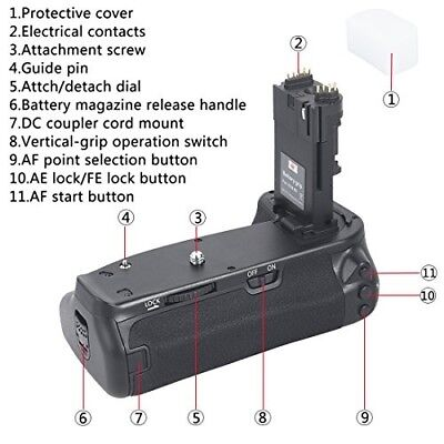 DSTE BG-E13 BGE13 Vertical Battery Grip With Remote for Canon EOS 6D SLR Camera