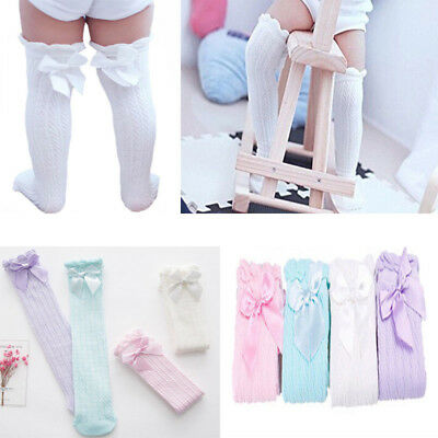 Cute Cotton Baby Socks with  Anti-Slip Infant Knee High Socks US STOCK