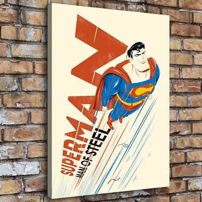 """12""""x16""""Superman Poster Art Home Decor HD Canva Print Picture Wall Art Painting"""
