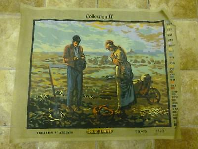 """Vtg Collection D Creation D Athens J F Millet """"The Angelus"""" #8123 (60 x 75) *NEW"""