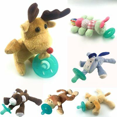 Hot Latest WubbaNub Animal Plush Toy Infant Baby Soothie Pacifier