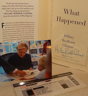"""HOT ITEM! Only $99 Autographed """"What Happened"""" SIGNED by HILLARY CLINTON Rare"""