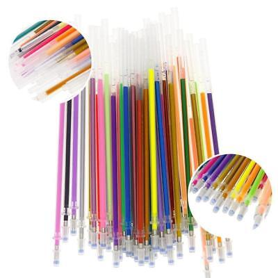 48 Colors Gel Ink Pen Glitter Coloring Stationery Office Suppliesㅃ