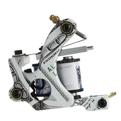 Nouveau Pro Tattoo Machine Shader Liner 10 Wrap bobines tatouage Instrument V8P1