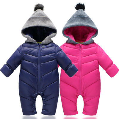 Snow Proof Baby Infant Hoodie Snowsuit Winter Ski Snow Suit Unisex Boys Girls