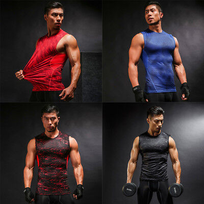 Under Compression Armour Base Layer Gym Thermal Tights Shirt Tops T-Shirts Men's