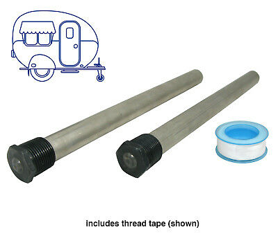 Two Suburban Hot Water Service Anodes Anode Rods - Caravan RV Parts