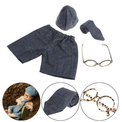 Newborn Photography Props Baby Boy Gentleman Set Costume Clothing Studio Shoot