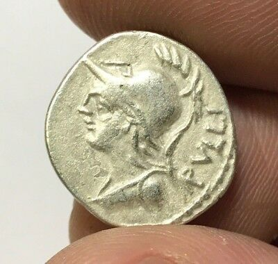 ANCIENT ROMAN SILVER COIN DENARIUS REPUBLIC RVLLI - SERVILIME 3,0gr 19.2mm