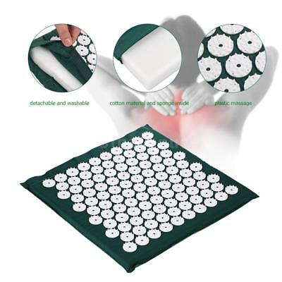 Massage Mat Spike Acupuncture Pad Relieve Stress Pain Acupressure Cushion U6A6