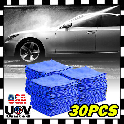 50 PCS Microfiber Cleaning Cloth Towel No-Scratch Rag Car Polishing Detailing