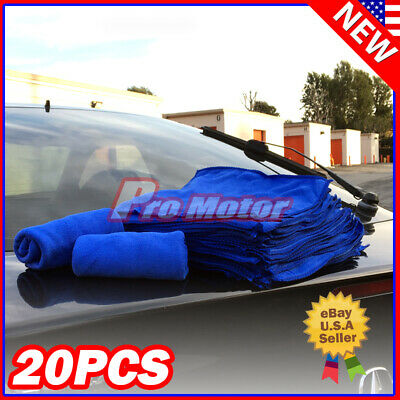 25 Pack Microfiber Cleaning Cloth No-Scratch Rag Car Polishing Detailing Towel #