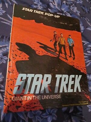 Star Trek Pop-Up Book ~ Giant In The Universe ~ H/b ~ Random House 1977
