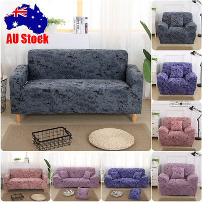 Elastic Cotton Sofa Cover Lounge Couch Removable Slipcover Washable 1 2 3 Seater