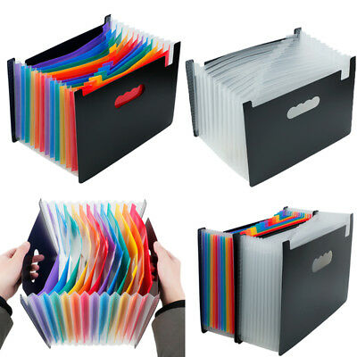 12 Pockets Portable Accordion Expanding Files Folder Office Storage Organizer
