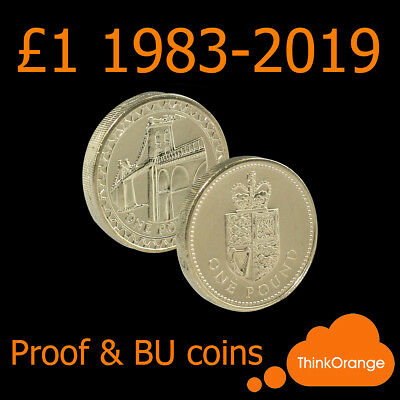 *UK PROOF & BU £1 One Pound Coins 1983-2019 - select year*