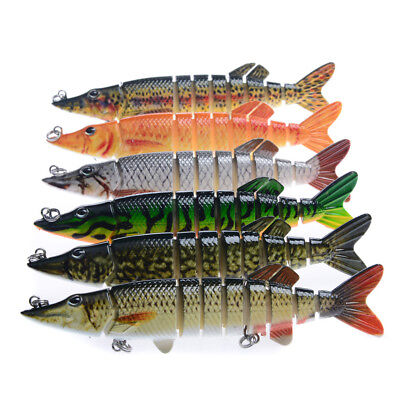LK_ 12cm 9 Sections Multi Jointed Lure Vivid Artificial Bait Fishing Tackle Ut