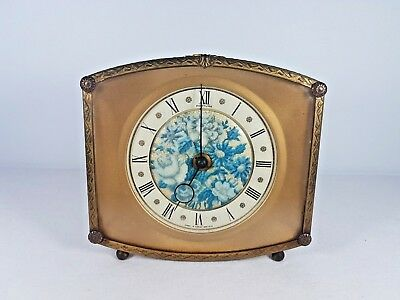 fe9e6cc2ccb VINTAGE FORTUNA EMBROIDERED Mantle Dressing Table Clock - £12.99 ...