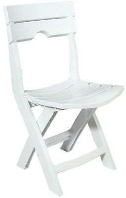 White Folding Beach Chairs Camper Porch Seat Fishing Gear Outdoors Fold Patio W