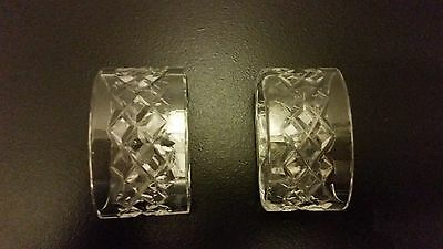 Waterford Crystal Alana / Comeraugh Napkin Ring Set Of 2~Ireland~Signed