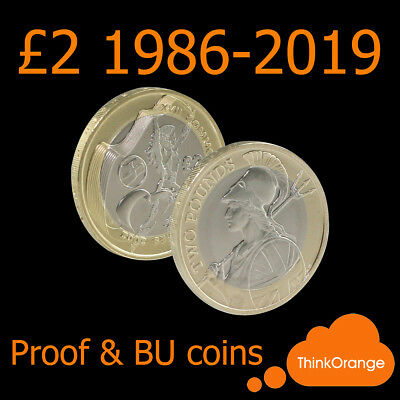 *UK PROOF & BU £2 Two Pounds Coins 1986-2019 Coin Hunt - select year*