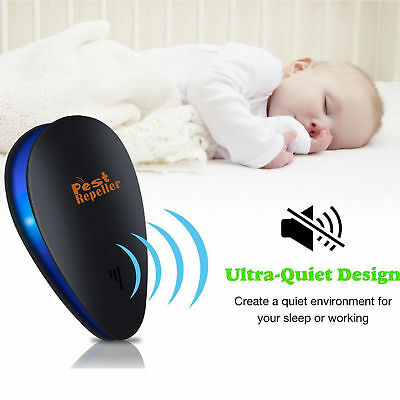 Ultrasonic Pest Repeller Repellent Rat Spider Insect Electric UK Plug Household