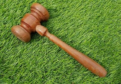 Vintage large head chunky auctioneer's auction hammer gavel wood wooden Masonic