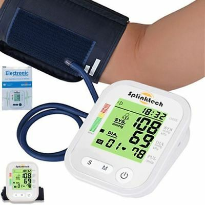 Automatic Digital Upper Arm Blood Pressure Monitor Meter Intellisense 99 Memory