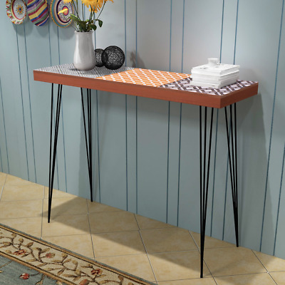 Industrial Console Table Brown Furniture Vintage Stand Side