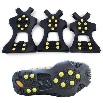 2Pcs Over Shoe Studded Snow Grips Ice Grips Anti Slip Snow Shoes Crampons Cleats