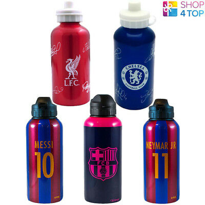 Official Football Soccer Club Team Drinks Water Bottle Sports Aluminium Licensed