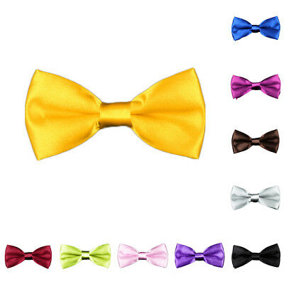 Lk_ Baby Boy Adjustable Bow Tie Formal Occasion Pet Dog Bow Tie Solid Color St