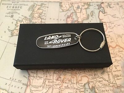 Land Rover Key Ring complete with box 70th Anniversary fob Defender Discovery