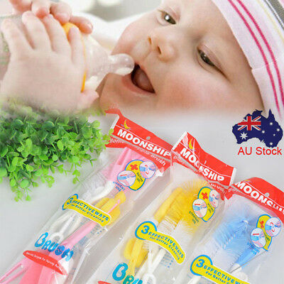 50X Baby Milk Feeding Bottle Brush & Nipple Sponge Cleaner Straw Brushes Kits