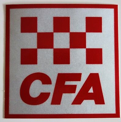 2 x CFA COUNTRY FIRE AUTHORITY REFLECTIVE STICKERS 50MM