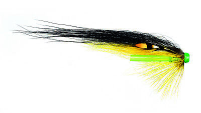 3 SILVER BLUE HITCH SALMON FLIES TIED ON 18MM PLASTIC TUBES