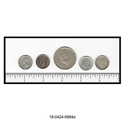 Lot of Five British India Silver Coins