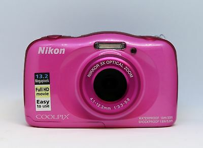 Nikon Digitale Kompaktkamera Coolpix W100 Sports Kit pink