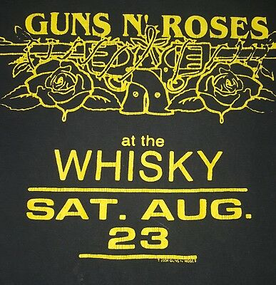 "Guns N' Roses Tour T-shirt. 2004, ""At the Whisky"", Men's Small"