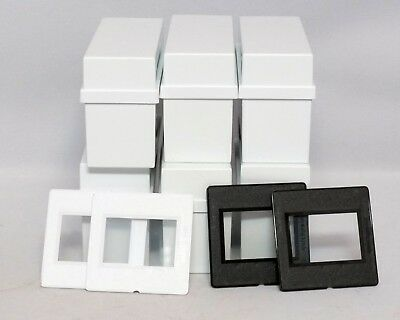 QuickPoint Plastic Slide Mounts 35mm Glass Box of 15x 2x2 Black White Used
