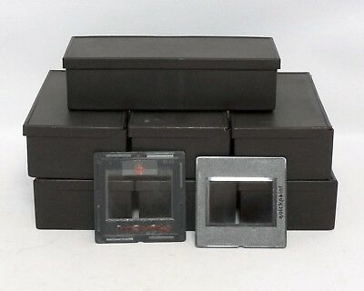 QuickPoint Plastic Slide Mounts 35mm Glass Box of 15x 2x2 Black Used